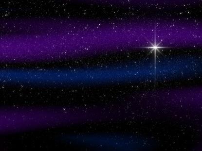 NATIVITY STAR BLUE PURPLE