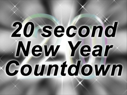 NEW YEARS EVE 20 SECOND COUNT