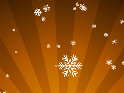 ORNAMENTAL SNOW ON ORANGE RADIAL LOOP