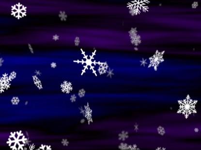 SNOWFLAKES BLUE VIOLET LOOP