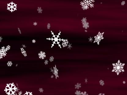 SNOWFLAKES BURGUNDY LOOP