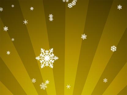 SNOWFLAKES ON GOLD RADIAL LOOP