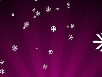 SNOWFLAKES ON MAGENTA RADIAL LOOP