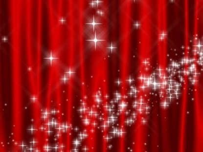 STAR CURTAIN RED