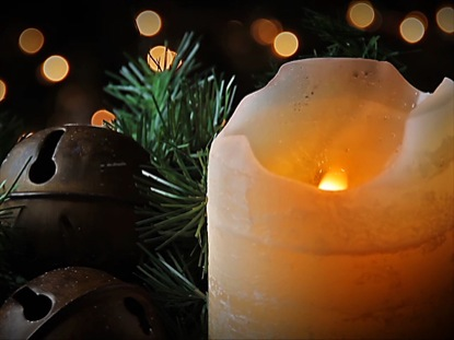 WHITE CANDLE AND BELLS