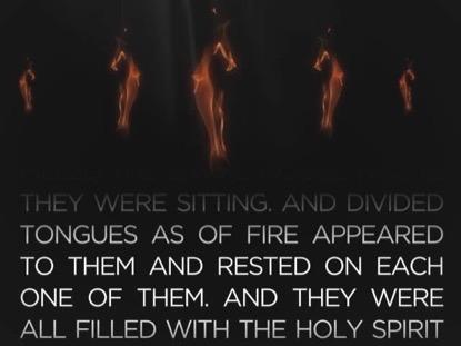 PENTECOST FIRE VERSE