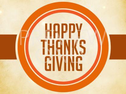 HAPPY THANKSGIVING STILL