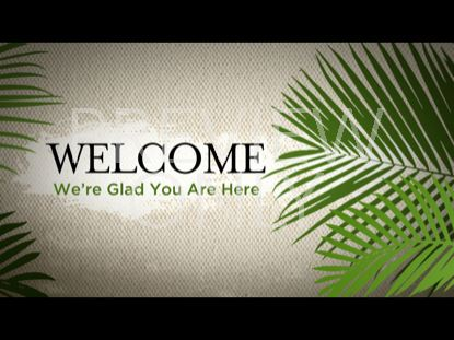 PALM SUNDAY WELCOME STILL