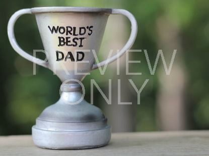WORLD'S BEST DAD TROPHY STILL