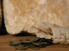 ROMAN COINS IN BAG