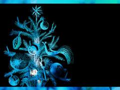 FESTIVE TREE BLUE