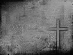 DUSTY CROSS BLACK AND WHITE