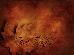 THANKSGIVING LEAF TEXTURE: GIVE THANKS