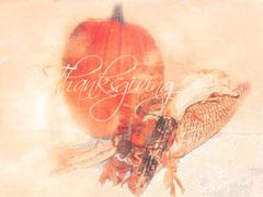 HORN O' PLENTY CORNUCOPIA & PUMPKIN: THANKSGIVING