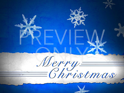 MERRY CHRISTMAS BLUE SNOWFLAKES