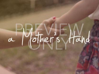 A MOTHER'S HAND TITLE STILL