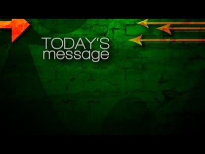 ARROWS 01 TODAY'S MESSAGE STILL