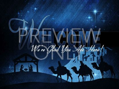 CHRISTMAS MANGER WELCOME