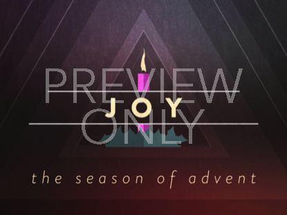 CHRISTMAS ADVENT CANDLES JOY