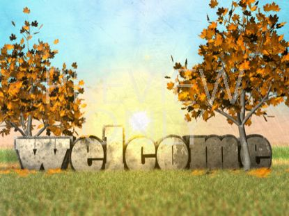 FALL MORNING WELCOME