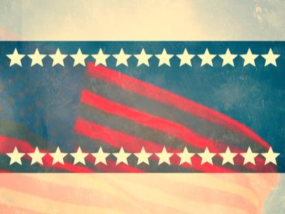 FLAG AND STARS STILL