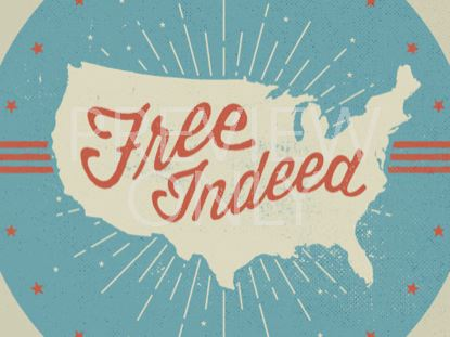 FREE INDEED TITLE (PATRIOTIC) STILL