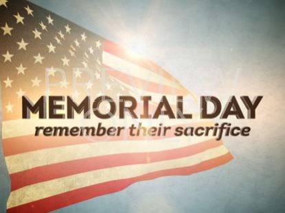 MEMORIAL DAY REMEMBER TITLE STILL