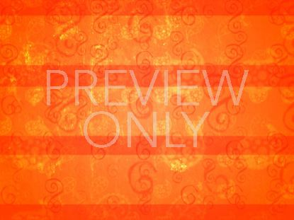 ORANGE PAISLEY WALL