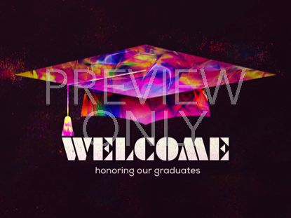 PAINTED GRADUATION WELCOME