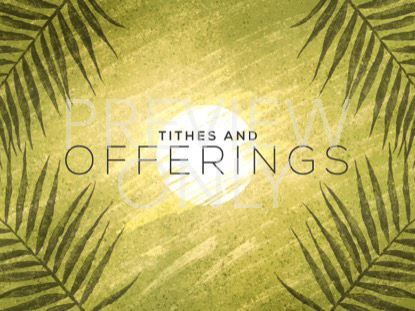 PAINTED PALM SUNDAY TITHES