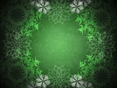 SNOWFLAKE WREATH GREEN
