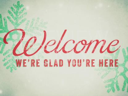 SNOWLIGHT CHRISTMAS WELCOME STILL