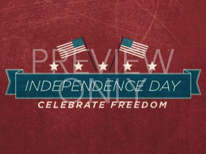 VINTAGE INDEPENDENCE DAY TITLE