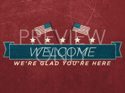 VINTAGE INDEPENDENCE DAY WELCOME