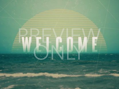 VINTAGE OCEAN WELCOME STILL