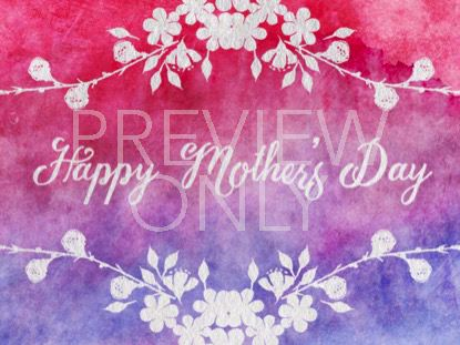 WATERCOLOR CARD HAPPY MOTHER'S DAY