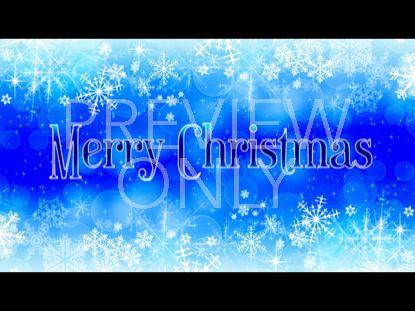 FLAKY MERRY CHRISTMAS BLUE
