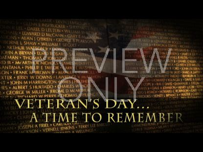 A TIME TO REMEMBER VETERANS STILL