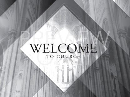 GRAYSCALE CATHEDRAL WELCOME