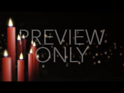 CHRISTMAS CANDLES OFFSET STILL