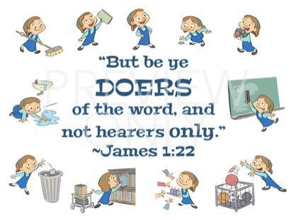 BE YE DOERS SCRIPTURE STILL