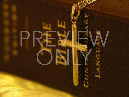 CROSS PENDANT AND BIBLE