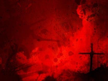 CROSS RED SPLATTER