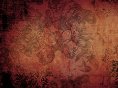 GRUNGE FLOWERS RED