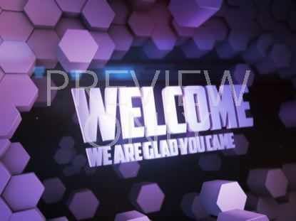 GEO SCAPE WELCOME PURPLE STILL