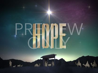 NATIVITY CHRISTMAS HOPE STILL