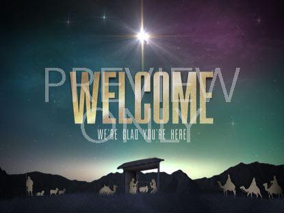 NATIVITY CHRISTMAS WELCOME STILL