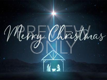STARLIGHT NATIVITY MERRY CHRISTMAS