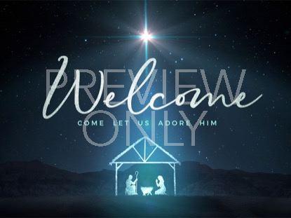 STARLIGHT NATIVITY WELCOME CHRISTMAS