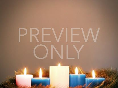 ADVENT WREATH BLUE CHRISTMAS